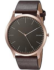 Skagen Mens SKW6330 Jorn Dark Brown Leather Watch