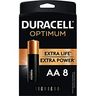 Duracell Optimum AA Batteries |8 Count Pack | Lasting Power Double A Battery | Alkaline AA Battery Ideal for Household and Office Devices | Resealable Package for Storage