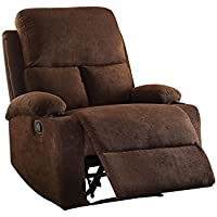 ACME Furniture 59547 Rosia Recliner, One Size, Chocolate