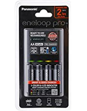 Panasonic K-KJ55MCC40T Eneloop Pro Battery Charger with 4 AA Rechargeable Batteries