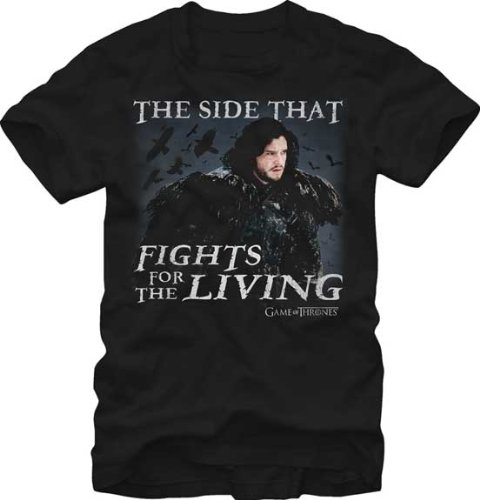 Game of Thrones Men's The Side That Fights for The Living T-Shirt