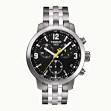 Tissot PRC 200 Chronograph Black Dial Stainless Steel Mens Watch T0554171105700