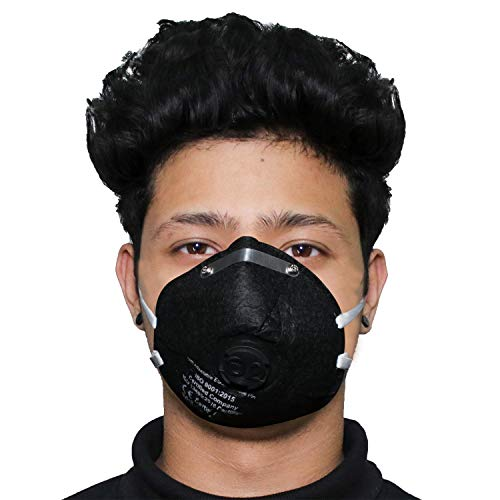 ORILEY OR6LM01 6 Layer Face Mask with Filter Valve Nose Mouth Respirator for Men & Women (Black, 1 PC) Price & Reviews