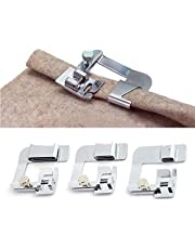 ANYQOO 3 Sizes Rolled Hem Pressure Foot Sewing Machine Presser Foot Hemmer Foot Set (1/2 Inch 3/4 Inch 1 Inch) for Singer Brother Janome and Other Low Shank Adapter (Rolled Hem Presser Foot)