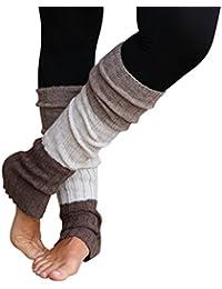 (TM) Striped Multicolor Reversible Knit Leg Warmers
