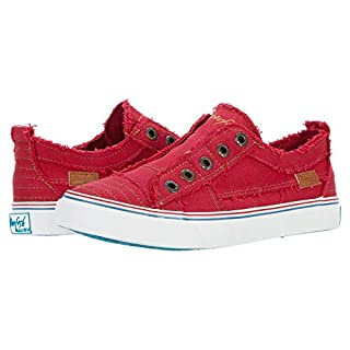 Blowfish Malibu womens Play Sneaker, Jester Red Hipster Twill, 7 US