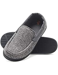 Boy's Slipper Moccasin House Shoe with Indoor Outdoor Memory Foam Sole Fresh IQ Odor Protection