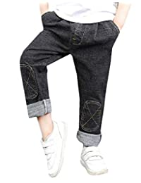 pipigo Boys' Washed Denim Jeans Pants