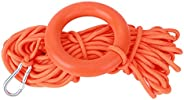 Fdit 10mm Diameter 30m Long Life Saving Line NonReflective Safety Rope Water Floating Lifesaving Rope with Pul