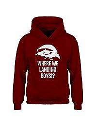 Indica Plateau Youth Where We Landing Boys?! Kids Hoodie