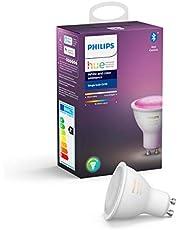 Philips Hue Spot 1-Pack - GU10 - Duurzame LED Verlichting - Wit en Gekleurd Licht - Dimbaar - Verbind met Bluetooth of Hue Bridge - Werkt met Alexa en Google Home