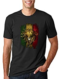 Rasta Lion | Mens Weed Tee Graphic T-Shirt