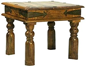Mercers Furniture Indian Jali Lamp Table - Indian Rosewood, 45 x 45 cm