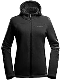 Women's Fleece Jacket - Waterproof & Stain Repellent, Ultra Soft Plush Lining & Optional Hoodie - Full-Zip