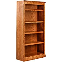 Forest Designs Mission Oak Bookcase: 30W X 84H X 13D 84h Honey Oak