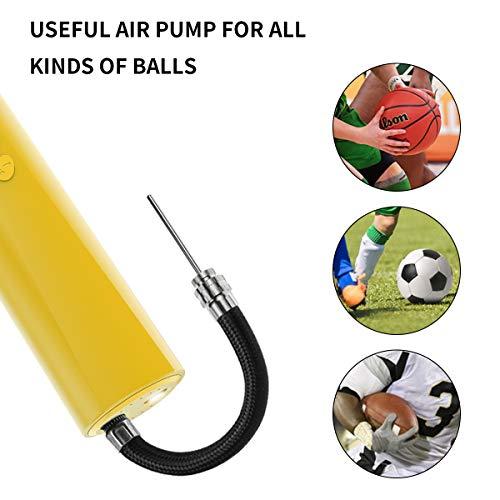 morpilot Mini Pompe à Ballon Automatique Portable, Gonfleur Ballon Electrique avec 2 Aiguilles pour Basketball,Football,Volleyball,Rugby et Balle de Jouet pour Enfants
