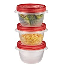 Rubbermaid TakeAlongs 2-Cup Twist and Seal Containers, Pack of 3