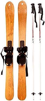 Ski Boards Snowblades W Release Bindings, Winnter Sports Kid's Beginner Snow Skis and with Bind