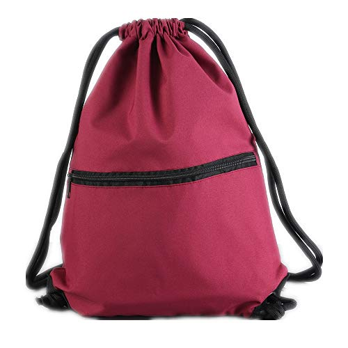 Men & Women Sport Gym Sack Drawstring Backpack Bag