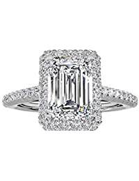Jewelry Women's Ring 18k Gold Plated Square Cubic Zircon Engagement Ring 118