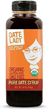 Award Winning Organic Date Syrup 18 Ounce BPA -Free Squeeze Bottle | Vegan, Paleo, Gluten-free & Kosher. N