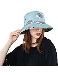 Danexwi Hat Bucket Summer Lightweight Bucket Hat Hedgehog Barbed Cute Animal Reversible Outdoor Hats Travel Outdoor Picnic Hat for Women Fisherman