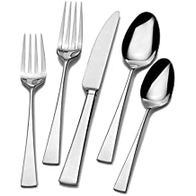 Mikasa 5100238 Lucia 20-Piece Stainless Steel Flatware Set, Service for 4