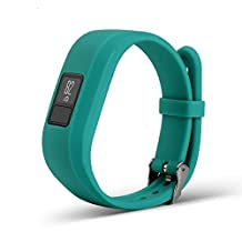 Newest Colorful Replacement Wristband and straps With Secure Clasps for Garmin Vivofit 3 / Vivofit Jr. (No tracker, Replacement Bands Only) (Teal)