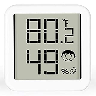 FGZ Digital Hygrometer Indoor Thermometer, Large Screen Temperature and Humidity Monitor with Comfort Indicators Refresh Rate Adjustable Accurate Temperature Humidity Gauge for Home Room House