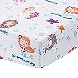 Baby Girl Fitted Crib Sheet Mermaid