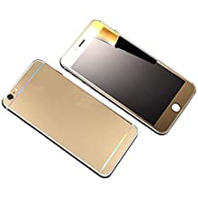 iPhone 6 Front+Back Colored Screen Protector, Elooptech Full Cover Premium Electroplating Mirror Tempered Glass Film Screen Protector Cover for iPhone 6/6S 4.7 inch, Gold