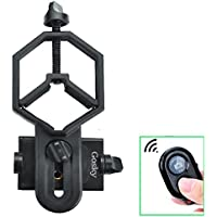 Big Type Gosky Universal Cell Phone Adapter Mount and Bluetooth Kit for Spotting Scope Telescope Microscope Binocular Monocular - for Eyepiece Diameter 32mm to 62mm - For Iphone Sony Samsung Moto Etc