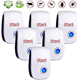 Ultrasonic Pest Repeller 6 Pack,Upgraded Electronic Pest Repellent Plug in Indoor Pest Control for Insects, Mosquito, Mouse, Cockroaches, Rats, Bug, Spider, Ant, Human & Pet Safe
