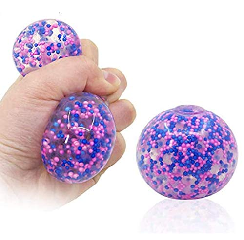 DNA Balls Fidget Toy Squishy Stress Relief Balls Toy Squeeze Ball Exercise Hand Ball for Kids Adults, Non-Toxic ADHD, OCD, Anxiety (1 PC-03, Colorful-03)