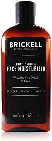 Brickell Men's Daily Essential Face Moisturizer for Men – Natural & Organic Face Lotion – 4 oz