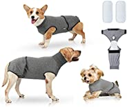 Recovery Suit for Dog Cat After Surgery Substitute E-Collar Cone, Dog Onesie Neuter Cone Alternatives Abdomina