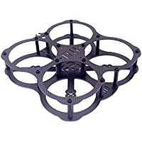 Usmile 112mm Micro Brushless Carbon Fiber Quad Frame miniquad with Integrated Prop guard for FPV Safe racing