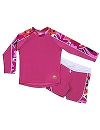 Nozone Laguna Sun Protective Girl's Two Piece Swimsuit - UPF 50+