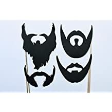 4 Beards Photo Booth Props by Paper and Pancakes
