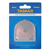 Taskar 60mm Rotary Cutter Blades for Olfa Etc - by Taskar