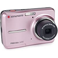 AGFAPHOTO Precisa 1430 1430PK 14.1 MP Digital Camera with 3x Optical Zoom and 2.4-Inch Auto Brightness LCD (Pink)