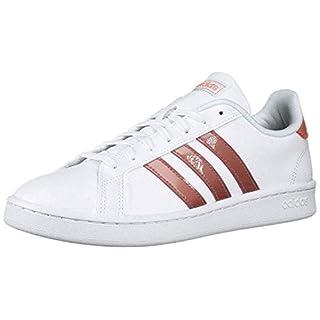 adidas Women's Grand Court Sneaker, White/raw Pink/light granite, 6 M US