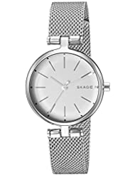 Skagen Womens Signatur Quartz Stainless Steel Casual Watch, Color:Silver-Toned (Model: SKW2642)