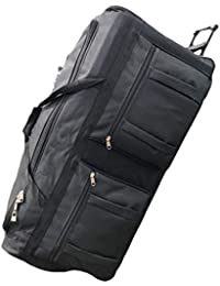 42-inch Rolling Duffle Bag with Wheels, Luggage Bag, Hockey Bag, XL Duffle Bag With Rollers, Heavy Duty Oversized Storage Bag