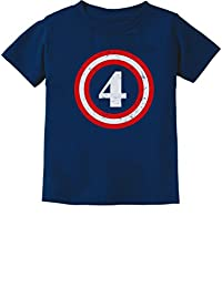 Captain 4th Birthday Gift for Four Years Old Toddler Infant Kids T-Shirt