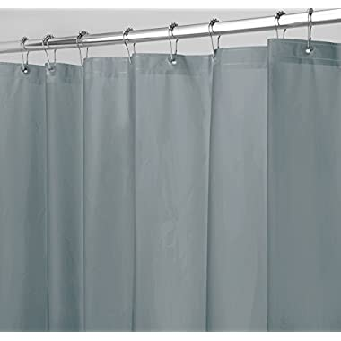 mDesign PEVA 3G Shower Curtain Liner (PACK of 2), PVC FREE, Eco Friendly, MOLD & MILDEW Resistant, ODORLESS - No Chemical Smell, 72  x 72  - Smoke
