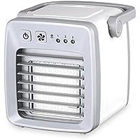 SL&LFJ Mini portable air conditioner fan,Chiller small air-conditioned dormitory usb student bed office portable silent air-conditioning fan-White 13x15cm(5x6inch)