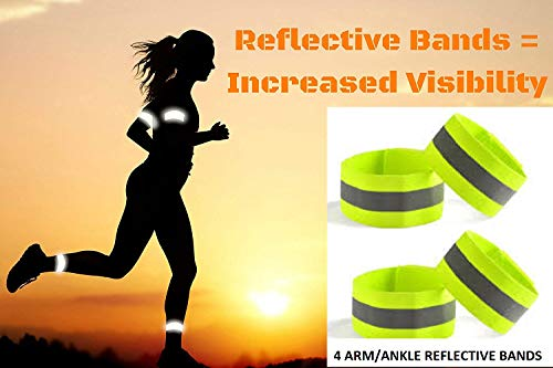 LifeKrafts High Visible Adjustable Reflective Arm Bands | Ankle Bands – Straps Perfect for Runners, Walkers, Cyclists and as Bike Pant Leg Straps … Price & Reviews