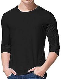 Men's Long Sleeve T-Shirt Men's Solid Cotton T Shirt Premium Comfort Soft Tees