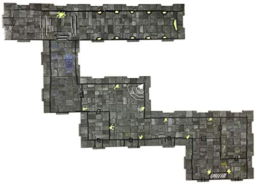 "Role 4 Initiative Dry-Erase Dungeon Tiles, Wire Mesh, Booster Pack of Two 10"" Tiles and Eight 5"" Tiles"